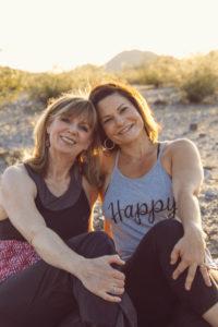 yoga buddies Lisa and Elizabeth